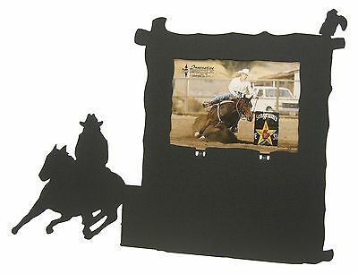 Barrel racing black metal 8x10 Vertical award picture frame