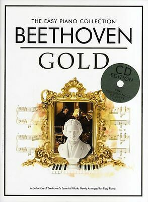 BEETHOVEN GOLD SHEET Music The Easy Piano Collection Piano