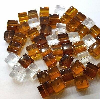 Topaz Brown BRS604 50pc 6mm Crystal Glass Smooth Round Beads