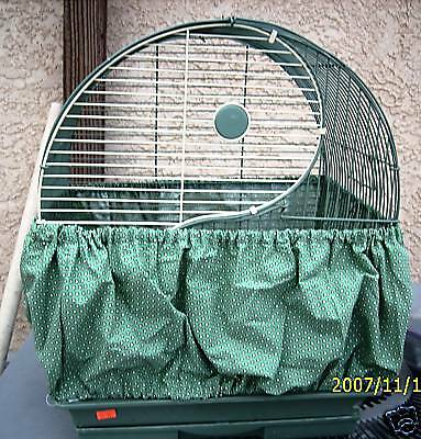 "Fabric   Bird Seed Catcher Skirt for Cages 30""-46"" #1 you state color or patter"