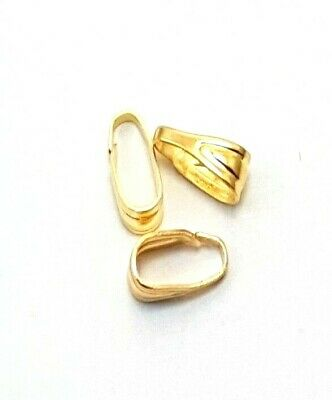 50 pcs Gold Plated Spring Bails for pendants - A5646