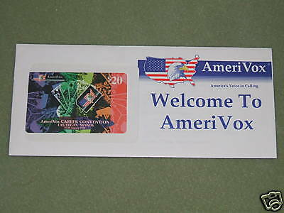 LAS VEGAS CONVENTION- $20 Amerivox Phone Card- Aug 1994