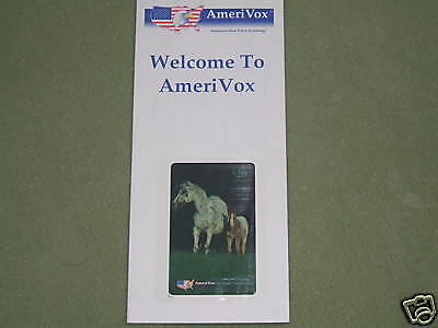 Horses - $20 Amerivox Phone Card-1994