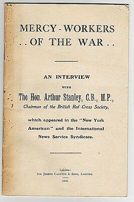 Mercy Workers Of The War - Vintage Wwi Booklet