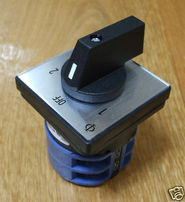 Mains 240v power selector switch 32amp, 2 pole 2 way PSS032