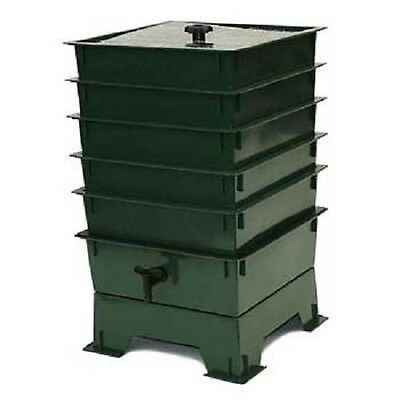 5 Tray Worm Factory® Composting Bin COMPOSTER Vermicomposting GREEN