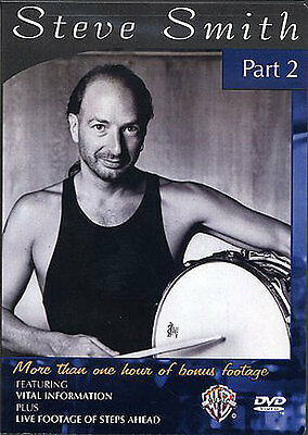 Steve Smith Drums Part 2 Instructional Tuition DVD Learn To Play Techniques DRUM