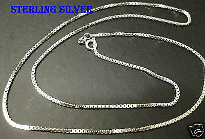 """Sterling silver 0.70MM Mens  24"""" Box chain necklace"""