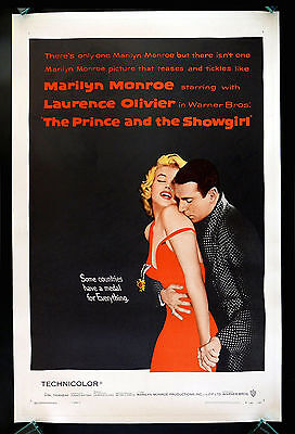 PRINCE AND THE SHOWGIRL * CineMasterpieces ORIGINAL MOVIE POSTER MARILYN MONROE
