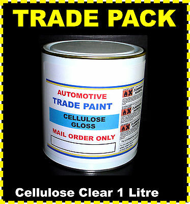 CAR PAINT CELLULOSE CLEAR LACQUER HIGH GLOSS  1lt size