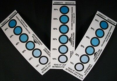 Humidity Indicator Cards 6 Dot - Use With Desiccant!