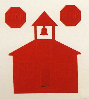 Creative Memories Schoolhouse Die Cut Bn & Nla