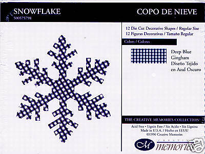 Creative Memories Large Snowflake  Die Cut Bn & Nla