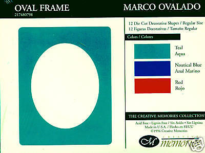 Creative Memories Large Oval Frame Die Cut Bn & Nla