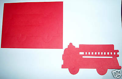 Creative Memories Large Fire Truck Die Cut Bn & Nla