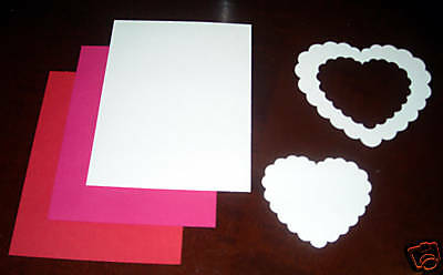 Creative Memories Large Scalloped Heart Die Cut Bn& Nla