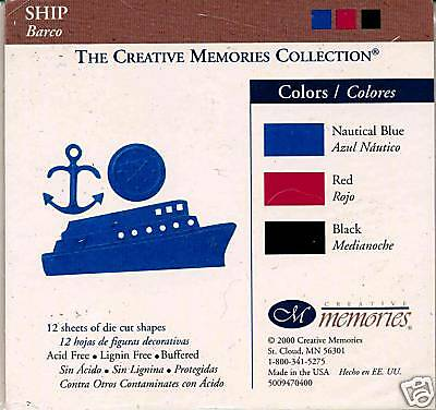 Creative Memories Ship Die Cut Bn & Nla