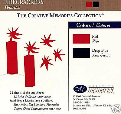 Creative Memories Firecrackers Die Cut Bn & Nla