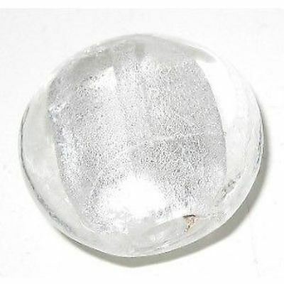 5 x Silver Foil Flat Round Glass Beads - 20mm - A4194