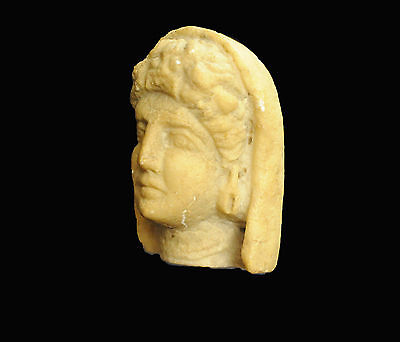 Aphrodite-Ancient Hellenistic Head Of A Veiled Woman