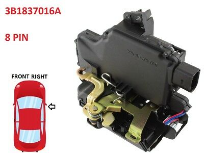 Vw Golf 4 Mk4 Iv Bora Door Lock Mechanism Motor Actuator Front Right 3B1837016A