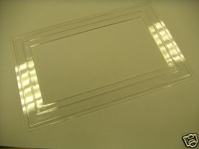 (PACK OF 2) 2 Gang Clear Finger Plate For Light Switches