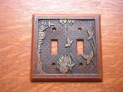 New Broken Leaf Electrical  Double Switch Plate