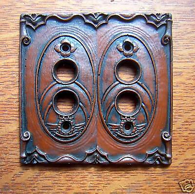 "New ""Storybook Castle"" Double Push Button Switch Plate"