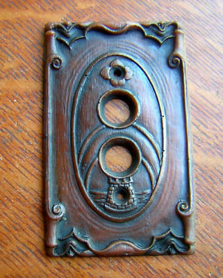 "New ""Storybook Castle"" Push Button Light Switch Plate"