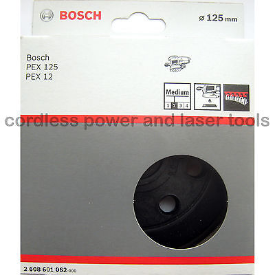 Bosch MEDIUM Sanding Backing Rubber Pad Plate for PEX 12 125 A AE A-1 2608601062