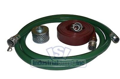"3"" Trash Pump Water Suction Discharge Hose Camlock Kit"