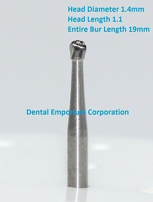 Dental Carbide Burs FG # 4 Round for High Speed Handpiece in bulk 100/pk