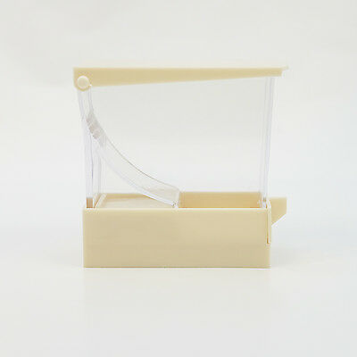 Dental Cotton Roll Dispenser Holder Organizer Deluxe with pull-out tray White