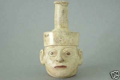 Mochica Head Vessel, Moche I, 200 AD: Antiquities Peru • CAD $3,366.16