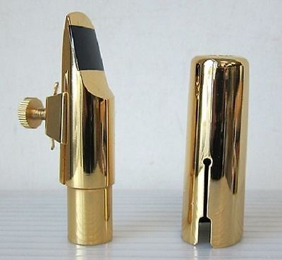New 24K Gold Plated Alto Saxophone Mouthpiece