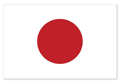 "Japan Japanese National Flag car bumper sticker 5"" x 4"""