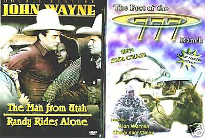 John Wayne; The Man From Utah - Randy Rides Again (DVD) & TBOT 777 Ranch (DVD)