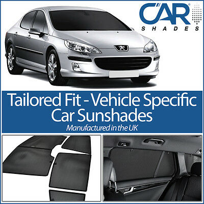 Peugeot 407 4dr 04-10 UV CAR SHADES WINDOW SUN BLINDS PRIVACY GLASS TINT BLACK