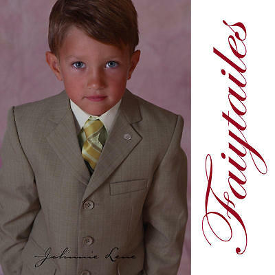 Johnnie Lene Boys Natural Textured Dress Suit Set