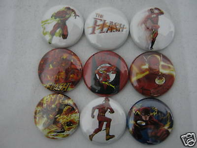 Flash Comic Hero 9  Pip Pins Buttons Badges New Nco