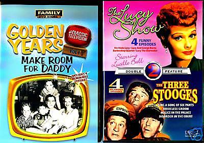 Make Room For Daddy (DVD) & The Lucy Show - The Three Stooges (DVD)