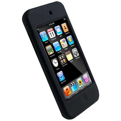 iPod Touch 2G BLACK Silicone Protective Case Cover