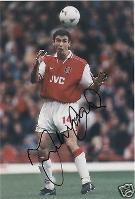 Martin Keown Arsenal SIGNED AUTOGRAPH Football AFTAL UACC RD