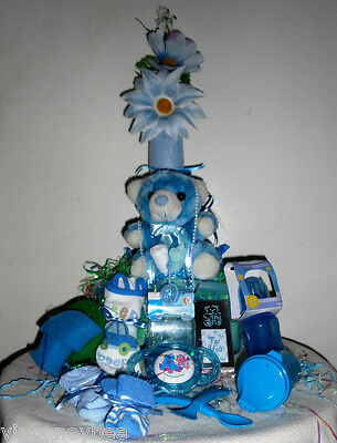 Baby Boy Shower Gift Set-20 Piece Custom Gift Wrapped