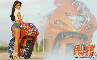 Suzuki Gsxr Banner #2Motorcycle Street Girl Flag Sign