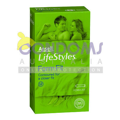Ansell Lifestyles Form Fit Condoms (12 condoms)