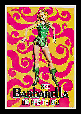 BARBARELLA * 40x60 CineMasterpieces ORIGINAL VINTAGE MOVIE POSTER 1968 SIXTIES