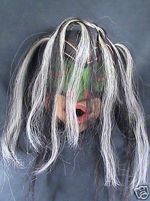 """WILD WOMAN MASK"" also known as ""DZUNUKWA"" Authentic Northwest Coast Native Art"