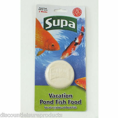 Supa Pond Fish Food Holiday Block 2 Weeks 50g