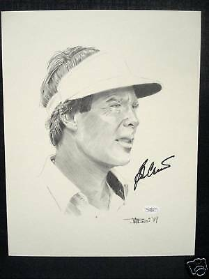 Masters Champion Ben Crenshaw Signed Lithograph Sketch